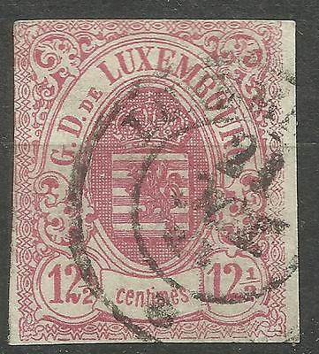 LUX7.Lussemburgo.Luxenbourg.1859.Yvert number 7.Condition used.Low price