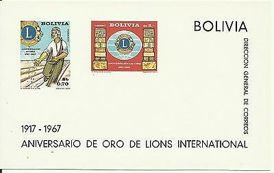 Bolivia 5.1917-1967.Lions Souvenir Sheets MNH.Good block value.Very low start