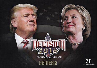 Donald Trump Hillary Clinton Decision 2016 Presidential Trading Cards Deluxe Set