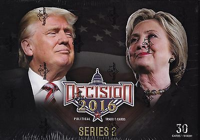 Donald Trump Hillary Clinton  2016 Presidential Trading Cards Deluxe Box Set **