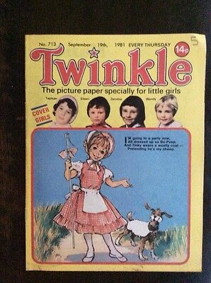 TWINKLE COMIC. 19 SEPTEMBER 1981 VFN+ Puzzles Not Done WITH DRESS TWINKLE PAGE