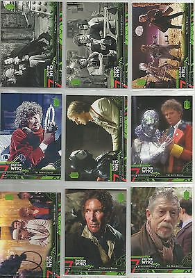 Dr. Who EXTRATERRESTRIAL ENCOUNTERS trading card set (Topps 2016) + 2 insert set