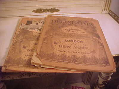 2 Antique Womens 1888 Edwardian Fashion Magazines The Delineator
