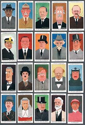 1926 John Player & Sons Straight Line Caricatures Tobacco Cards Complete Set