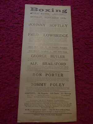Vintage Boxing Poster - Sutton-In-Ashfield