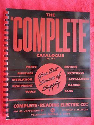 1948 COMPLETE READING ELECTRIC Co.,PARTS, MOTORS, TOOLS, RADIOS, FANS CATALOG