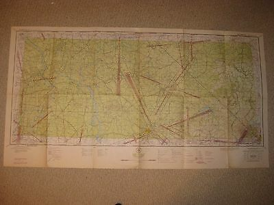 Antique '44 Nashville Knoxville Tennessee Aeronautical Map Chart Ww2 Air Defense