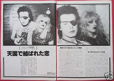 SID VICIOUS Nancy Spungen SEX PISTOLS 1979 CLIPPINGS JAPAN MAGAZINE RS 5A 2PAGE
