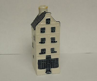 Vintage KLM  Bols Holland Blue Delft House Empty Decanter #28 Royal Distilleries