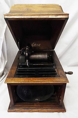 Antique EDISON AMBEROLA Cylinder Record PHONOGRAPH Model 30 -WORKS-