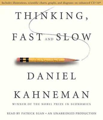 Thinking, Fast and Slow by Daniel Kahneman (English) Compact Disc Book Free Ship