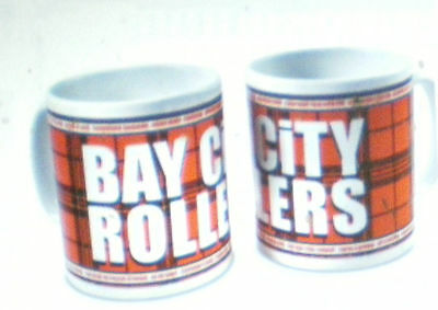 Bay City Rollers Official Coloured Tartan Brand New Mug