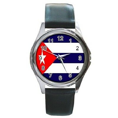 Cuba National Flag Wristwatch **great Item**