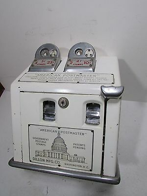 1950's American Postmaster Stamp Machine Coin Operated Great Old Look Cool Graph