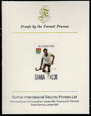 Ghana (1562) - 1984 Olympics 2c30 imperf on Format International PROOF  CARD