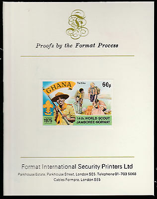 Ghana (1567)  1976 Scout Jamboree 60p imperf on Format International PROOF  CARD