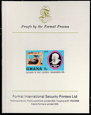 Ghana (1592)  1976 TELEPHONE 8p imperf on Format International PROOF  CARD