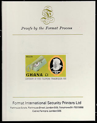 Ghana (1595)  1976 TELEPHONE C1 imperf on Format International PROOF  CARD