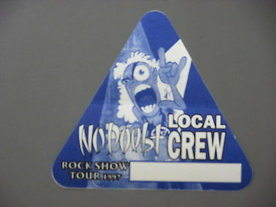 No Doubt backstage pass AUTHENTIC '97 CREW Triangle !