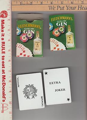 1 deck Fleischmann's deck of cards extra dry gin 54 cards in box