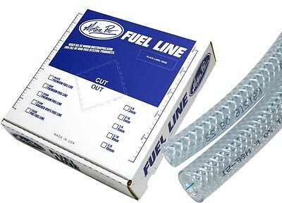 Motion Pro - 12-0012 - Braided Vinyl Fuel Line, 3/8in. ID x 5/8in. OD x 25' FT