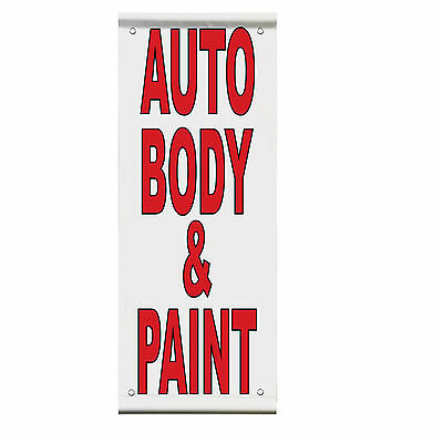 Antiques Primitives Red Blue Double Sided Vertical Pole Banner Sign