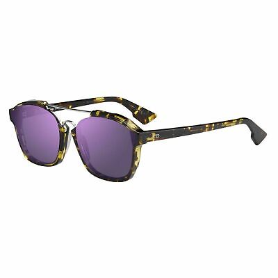 New Christian Dior ABSTRACT (TVZ 9Z) spotted havana violet mirror Sunglasses 987296caa133