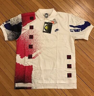 Vintage Nike Challenge Court Andre Agassi TennisPolo Shirt DEADSTOCK New W/Tags