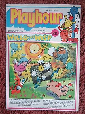 PLAYHOUR COMIC 5 november 1983. NR MINT/MINT. UNREAD UNSOLD NEWSAGENTS STOCK.