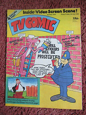 Tv Comic 1 July 1983 Nr Mint Unsold/unread Newsagents Stock