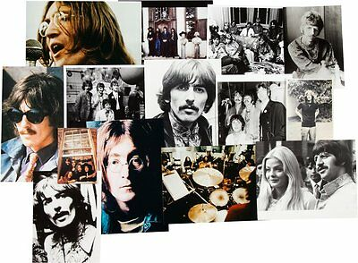 Group of 14 Vintage Beatles Photographs -- 1967-1969