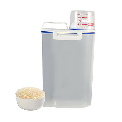 Durable Portable Kitchen Food Cereal Grain Bean Rice Storage Container Box Case