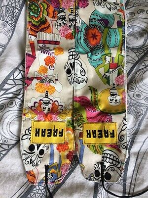 Day Of The Dead Mexican Style  35inch Reversible Crossfit FREAK WOD Wrist Wraps