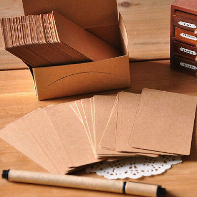 100Pc Blank Kraft Paper Hang Tags Wedding Party Favor Label Price Gift Cards