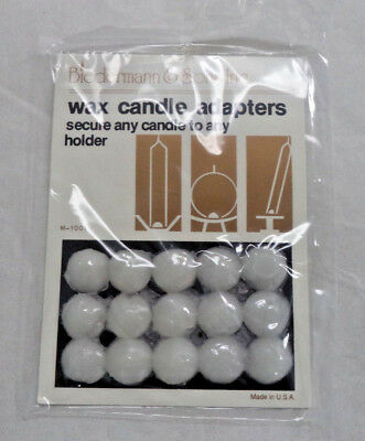 Wax Adhesive Dot Candle Adapter: 15 Card Pack, Dots Holds Candles Upright Secure