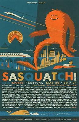 My Morning Jacket Ween Mgmt Concert Poster Sasquatch Music Festival 2010