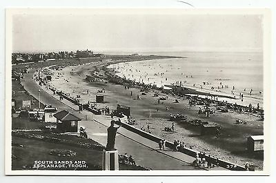 POSTCARD-SCOTLAND-TROON-RP. The South Sands and Esplanade.