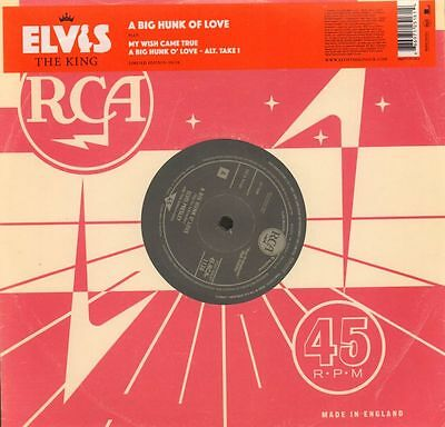 "Elvis Presley(Ltd. Ed 10"" Vinyl)A Big Hunk Of Love 10/18-RCA-RCA 1136-E-M/M"