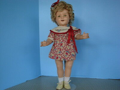 """18"""" Composition Shirley Temple with Mohair wig,"""