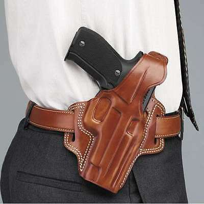 "Galco Fl424 Fletch High Ride Leather Holster 3"" 1911 Kimber Colt Springfield Tan"