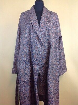 Mens Tootal Paisley Dressing Gown Smoking Jacket Vintage Style UK Size M