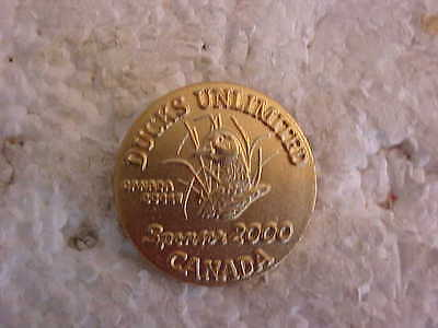 Ducks Unlimited Canada Sponsor 2000 Gold Plated Lapel Pin
