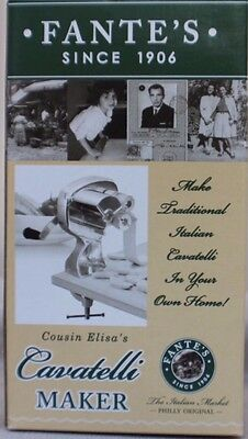 HIC FANTES COUSIN ELISAS CAVATELLI MAKER Machine for Authentic Italian Pasta
