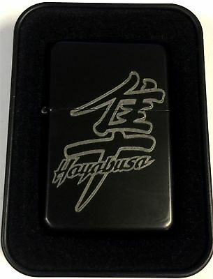 Hayabusa Suzuki Motorcycle Black Engraved Cigarette Biker Lighter LEN-0214