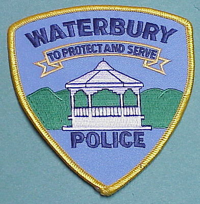 "Waterbury  Vermont  Vt  "" To Protect & Serve ""   Police Patch   Free Shipping!!!"