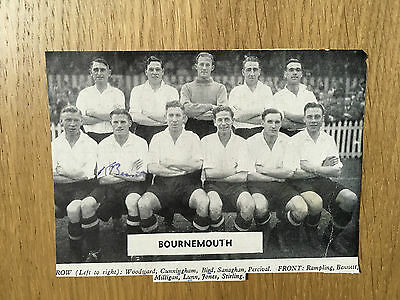 Rare Ken Bennett signed picture Bournemouth & Boscombe Athletic autograph 1948
