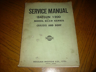 Datsun 1200 B110 Series Chassis & Body Service Manual 1972