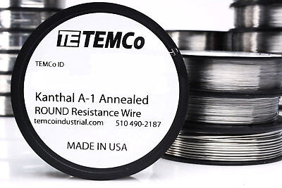 TEMCo Kanthal A1 wire 23 Gauge 50 Ft Resistance AWG A-1 ga