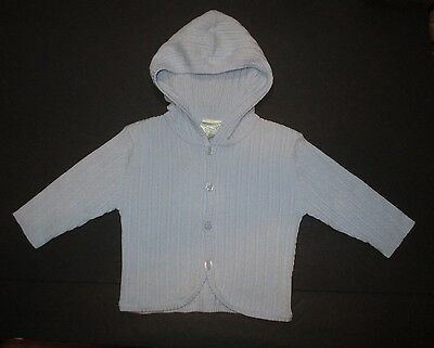 New Nwt Infant Boys Miniclasix Blue Cable Hoodie Cardigan Sweater Size 6-12 Mon