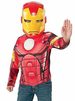 Set Carnevale bambino Iron Man con muscoli The Avengers *05035